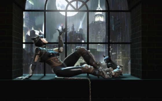 кот, женщина, gods, injustice, among, batman,