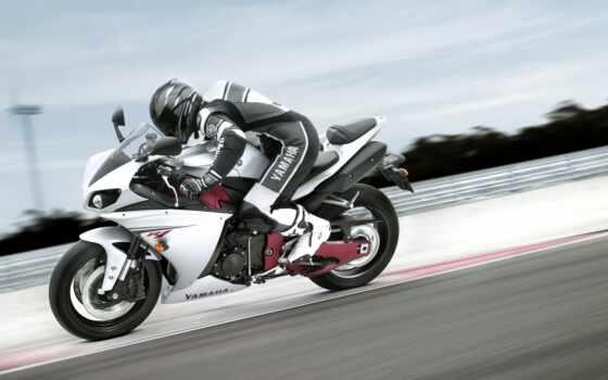 мотоцикл, yamah, гонщик, скорость, obtekatel, комплект, чёрный, пилот, inzhekcionnyi, синий, первое