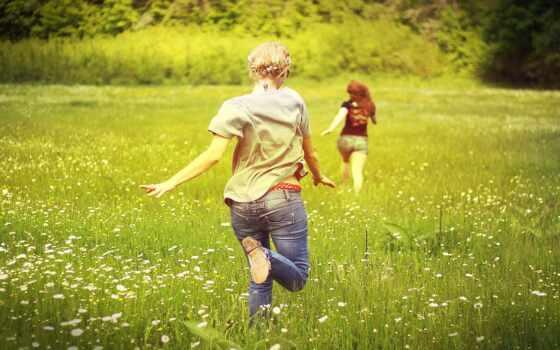 лицо, run, трава, май, содержать, news, девушка, площадь, фото, день