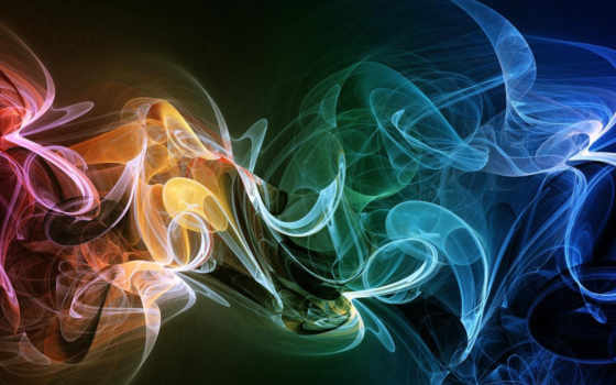 дым, разноцветный