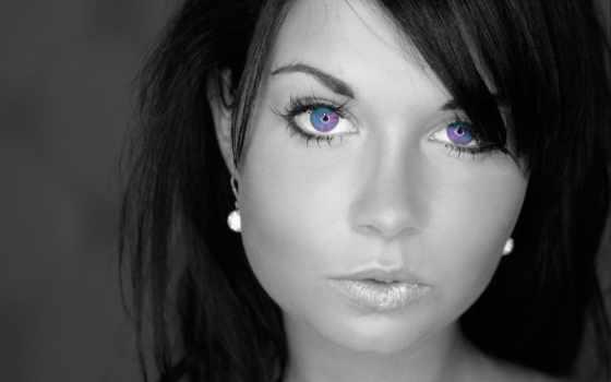 women, blue