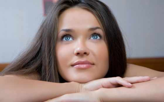 девушка, браун, глаза