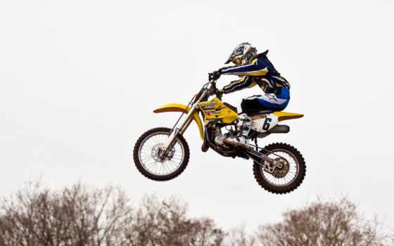 прыжок, мотоцикл, спорт