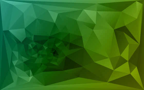 фон, polygonal, green, triangle