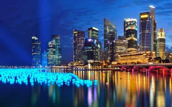singapore, ночь, здания, город, панорама, туры, bay, ios, города, windows,