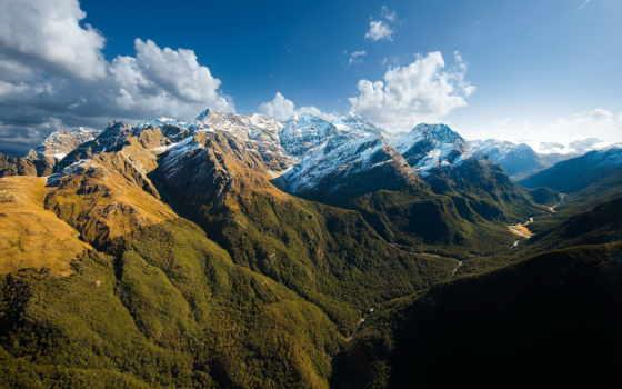 paisajes, montañas, nubes, rboles, cielos, naturaleza, naturales, verdes, fondo, azules, paisaje,