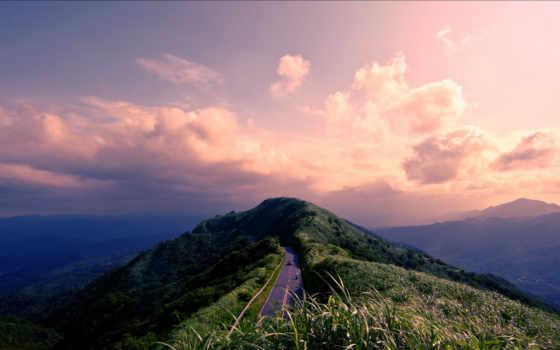 dream, land, дорога, природа, clouds, top,