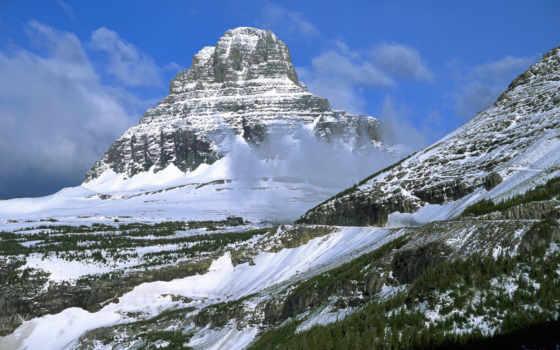 горы, winter, горах, зимой, mount, зимние, пейзажи -, скалы, взгляд, природа,