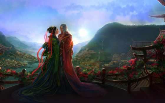 fantasy, love, elfy