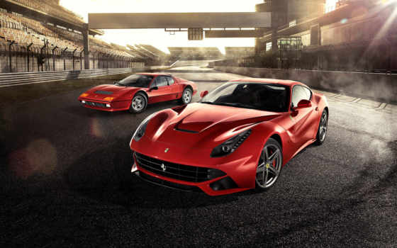фото, red, ferrari, ecran, berlinetta, fonds, supercars,