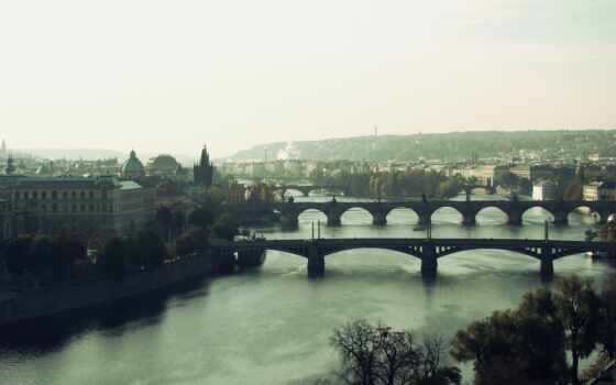 прага, мост, чехия, республика, чехия