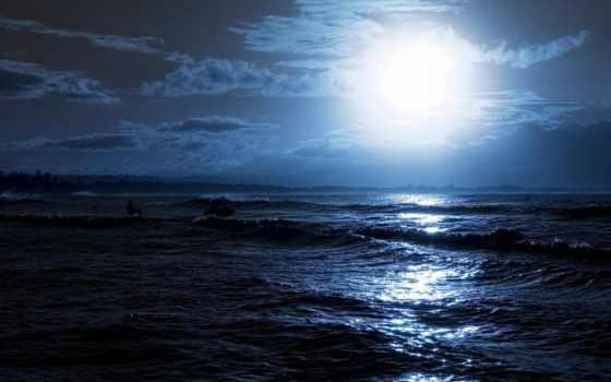 море, ночь, луна Фон № 83867 разрешение 1920x1080