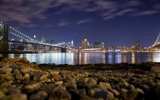город, skyline, ночь, chicago, new, york, usa, desktop,