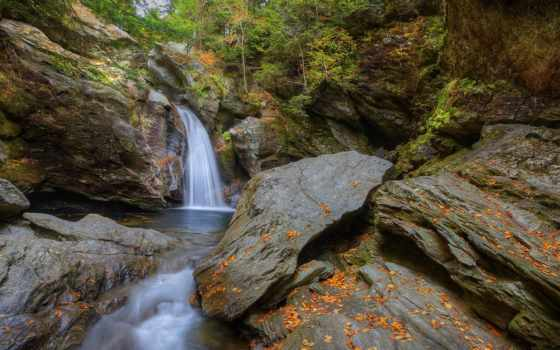 falls, bingham, установить, stowe, tapety, desktop, лес, скалы, pozadine, flickr,