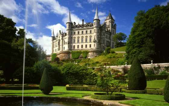 castle, картинки, dunrobin, красивые, pictures, scotia, sutherland, дворец, данробин,