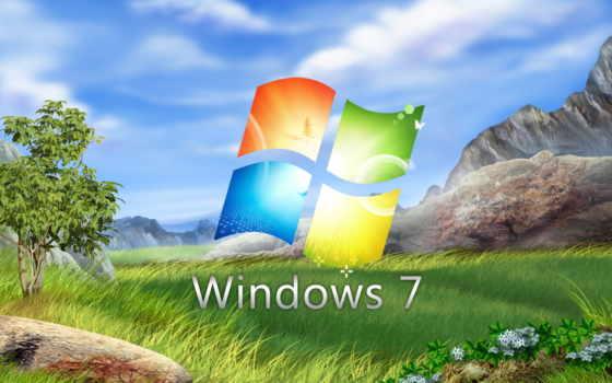 windows,win-7, природа, луг, листья, деревья, камни, landscape, widescreen, трава, bliss, снег, облака, горы, небо, цветы, background, tapety, inspiring,