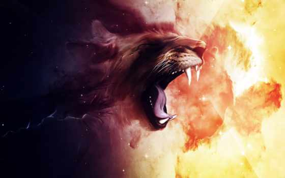 lion, cool, desktop
