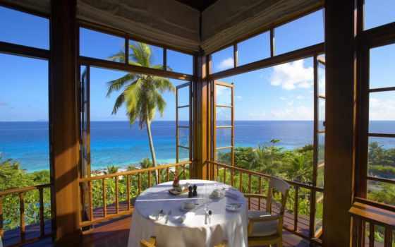 ocean, fregate, остров, частное, взгляд, сейшельские, видом, villa, острова, фрегат, hotel,