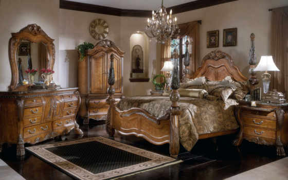 aico, bedroom, eden, furniture, bed, poster, sets, finish, collection, with, amaretto, amini, design, luxurious, dekor, michael, piece,
