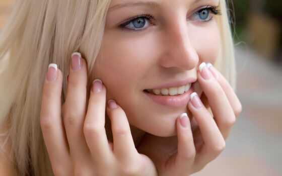 blonde, взгляд, макияж