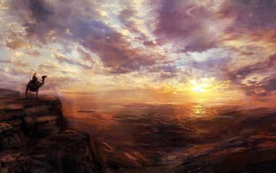 живопись, landscape, небо