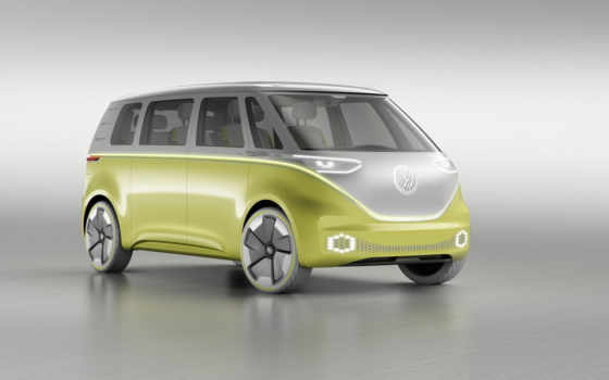 volkswagen, buzz, vw, янв, electric, concept, microbus,