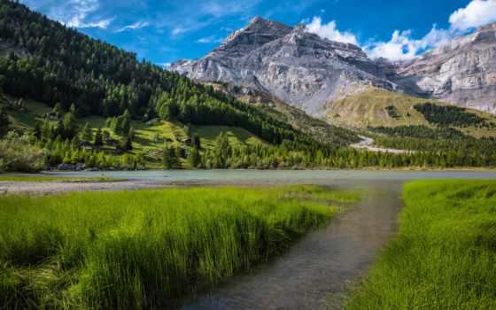 mount, швейцария, озеро, альпы, bernese, scenery, swiss, телефон, берн, ноутбук