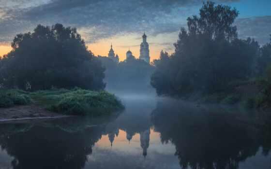 река, dubrovinskii, michael, отражение, canon, площадь, рассвет, туман, храм, eos, фотограф