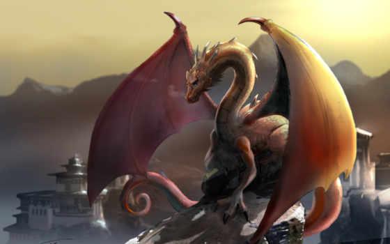 дракон, горы Фон № 23116 разрешение 2560x1600