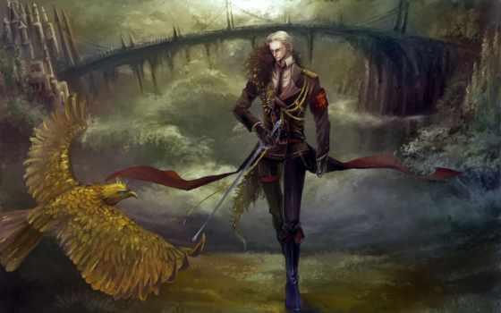 парень, птица, sabre