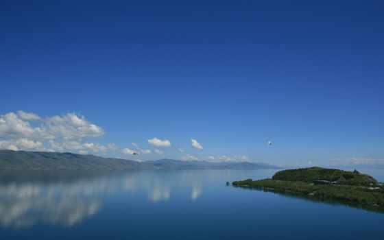 ,севан, озеро, армения, небо,