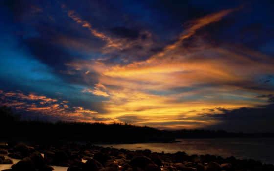 небо, ночное, ночь, oblaka, камни, свой, совершенно,