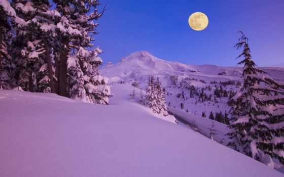 природа, зимние, winter, пейзажи -, зимняя, красивых, горы, зимних, обоях, леса, снег,