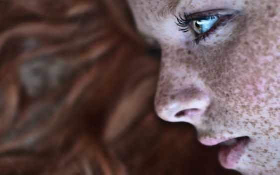 девушка, freckles, глаза, redhead, are,