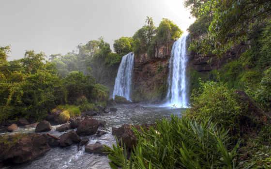 водопады, falls, игуасу, игры, водопад, высокого, уровень, природа, landscape, уровни,