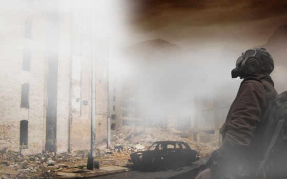 постапокалипсис, маска, военный, солдат,