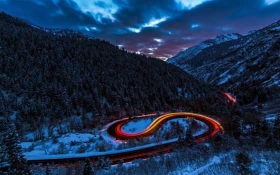 дорога, car, картинка, лес, снег, winter, музыка, горы, bass,