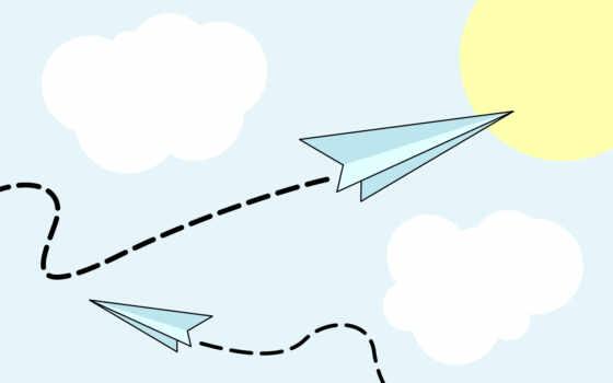 airplane, png, cartoon, полет, бумага, fly, plane