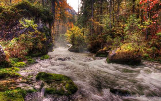 река, осень, iphone