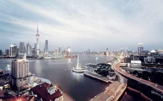 cityscapes, shanghai, skyline