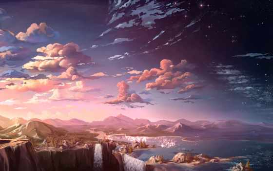 oblaka, art, landscape