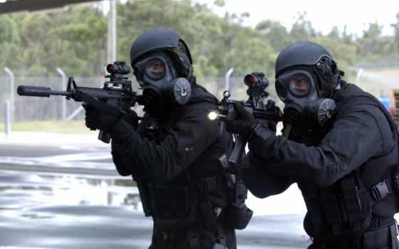 спецназ, солдаты, оружие