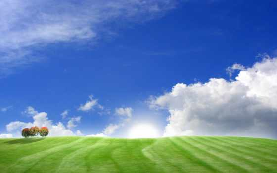 небо, prezentacii, мира, голубое,