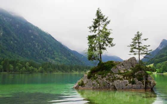 озеро, бавария, berchtesgaden, excelent, гора, природа,