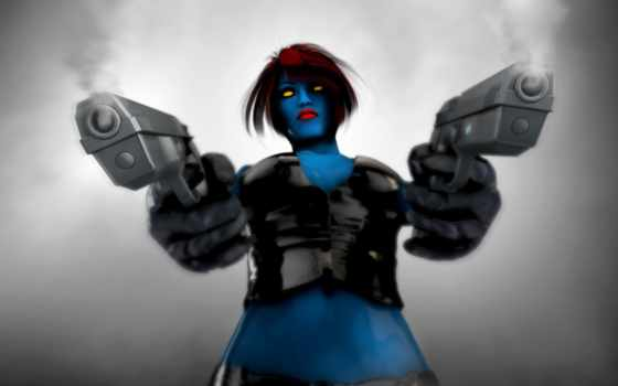 mystique, характер, marvel, fictional, комикс, ворон, men,