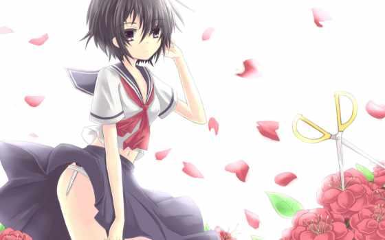 девушка, anime, смотреть