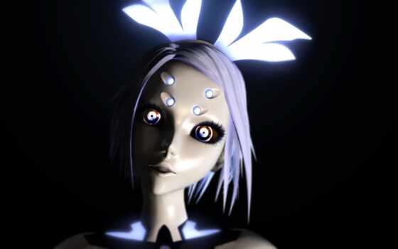 vocaloid, механизм, robot, fantasy, rin, anime, девушка, cyborg, вокалоид, phosphorescent, волосы