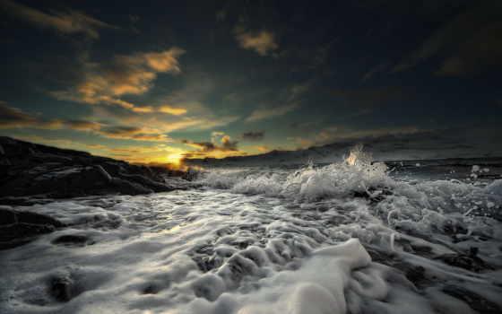 море, пена Фон № 8134 разрешение 4000x2662