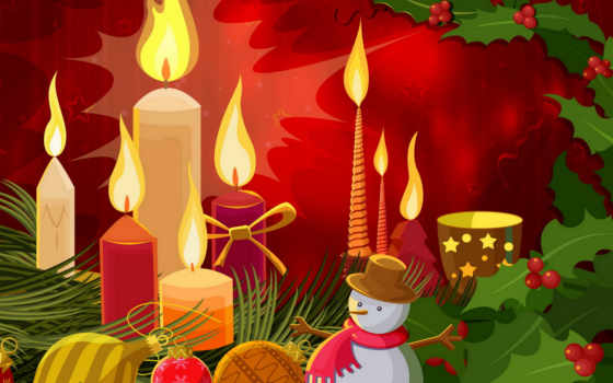 christmas, year, new, merry, xmas, vector, winter, новогодние, candles, normal,