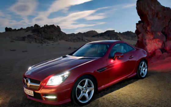 slk, mercedes, benz, class, автомобили, авто, машины, front,